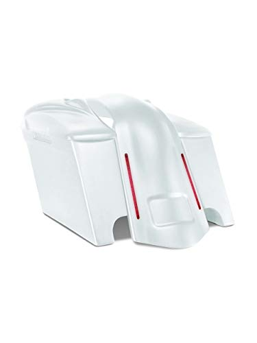 Check Out This Harley Davidson 4 extended stretched saddlebags and LED fender kit dual cut outs + 8...