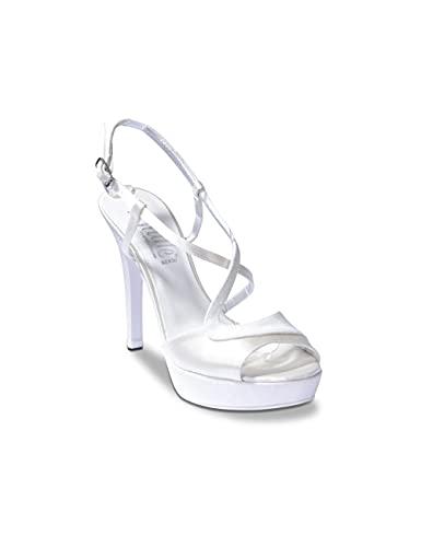 Melluso TH427N - Donna - MellusoSandalo, dell 100 Pc.Notturno Thulle Bianco Sposa, 35