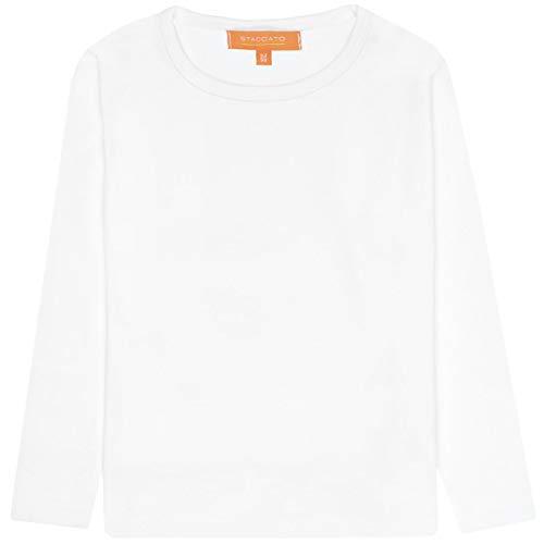 Staccato Basic Langarmshirt | Mädchen Kinder | White - Gr. 152 | Langarm elastisch tailliert T-Shirt Rundhalsausschnitt