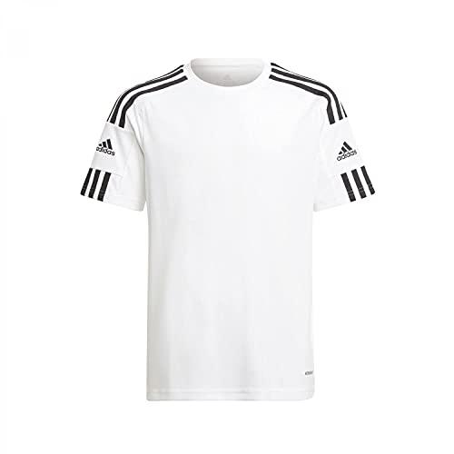 adidas Boy's Jersey (Short Sleeve) Squad 21 JSY Y, White/White/Black, GN5740, 176 EU