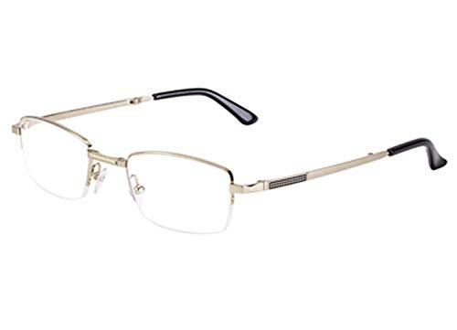 QKDSA leesbril, intelligente zoom-leesbril, opvouwbare draagbare ultralichte HD-bril van HD +3.0X goud