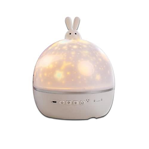 Moonlight Rabbit--USB LED Star Night Light Music Starry Water Wave LED Proyector de luz Bluetooth Proyector activado por sonido Decoración de luz