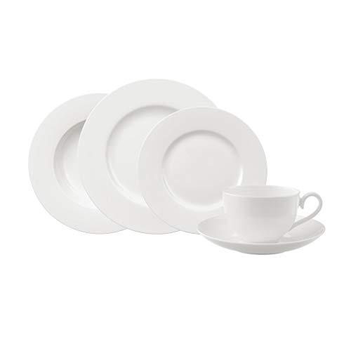 Villeroy & Boch Royal Basic Set, Service de table en Porcelaine Bone haute qualité, Convient pour 6 personnes, 1 x Service 30 pièces