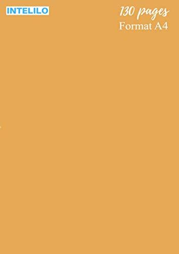 """Cahier Grand format en Blond vénitien (cheveux): 130 pages, taille A4 de 21 x 29,7 cm (8,27"""" po x 11,69"""" po), réglure Seyès et grands carreaux en ... étudiant, élève, école et université"""