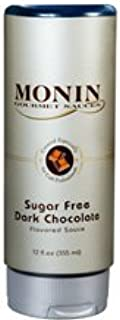 Monin Gourmet SUGAR FREE Dark Chocolate Sauce, 12 oz Squeeze Bottle