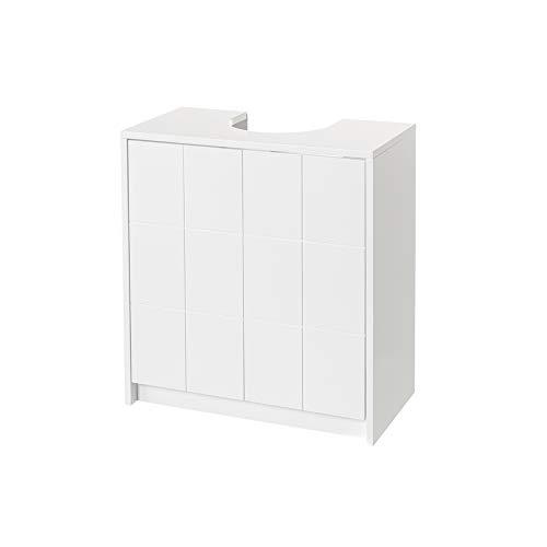 Mueble bajo Lavabo para encastrar de Madera MDF Blanco contemporáneo, de 56x30x60 cm - LOLAhome