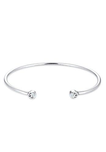 Elli Armband Elli Damen Armreif im Geo Minimal Trend Swarovski Kristalle in 925 Sterling Silber