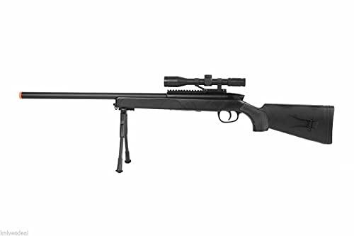 CYMA zm51 Spring Airsoft Gun Sniper Rifle fps-400 w/bipod, Scope(Airsoft Gun)