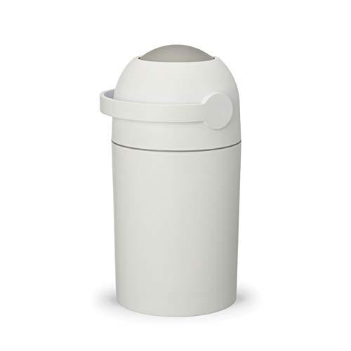 DUTUI Cubo De Pañales para Bebés, Bote De Basura Desodorante, Contenedor De Almacenamiento De Pañales, Bote De Basura Sellado con Tapa, Impermeable Y Desodorante,Blanco