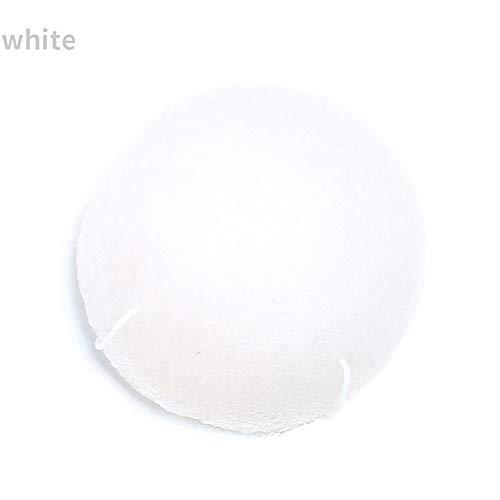 Beito 1pc Éponge Konjac Visage éponge 100% naturelle de nettoyage Gommage du visage, durable Idéal, végétalien pour Normal, peau sensible, peau grasse et acnéique(Blanc)
