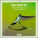 J.C.バッハ:ヴァイオリンまたはドイツ・フルートの伴奏付き6つのピアノフォルテ・ソナタOp.16