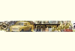 Ostprodukte-Versand.de Zollstock Trabant Zollstock Gold - Ossi Artikel - für Ostalgiker - DDR Produkte