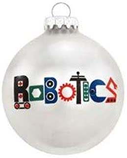 On Holiday Glass Robotics Christmas Tree Ornament