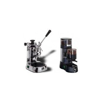La Pavoni Chrome Combo Set 7: Mano palanca Cafetera expreso la Pavoni Professional pl y la Pavoni kaffem ühle JDL: Amazon.es: Hogar