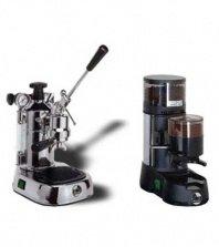 La Pavoni Chrome Combo Set 7: Máquina de café espresso La Pavoni Professional PL y La Pavoni JDL