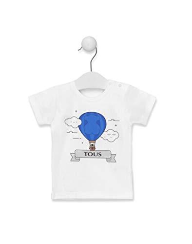 Tous Baby Camiseta M/C GLOBO-1402 Celeste Talla 2 AÑOS