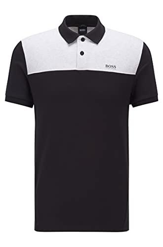BOSS Paule 1 Camisa de Polo, Negro1, L para Hombre