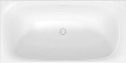 Duravit Xviu Badewanne 700444, 1600x800x460 mm freistehend, mit Acrylverkleidung und Gestell, mit Spezial Ab- und Überlaufgarnitur, Farbe: Champagner matt