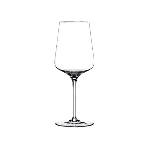 QIAOLI Copa de Vino - Copa de Vino de Cristal soplado a Mano: Copas Modernas de Vino de Tallo Largo con Tallo para Boda, Navidad, degustación de vinos (Color : 550ml)