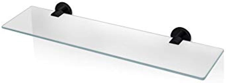 Decor Walther Glasablage 60 cm Serie Basic, BA GLA60 (Schwarz)