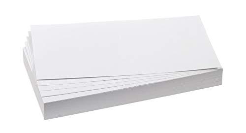 Franken GmbH UMZ 1020 09 Moderationskarten Rechtecke, 9,5 x 20,5 cm, 500 Stück, weiß