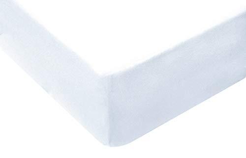 TM Maxx Jersey Spannbettlaken für Baby und Kinder mit Öko-Tex Standard (Weiß 001, 80x160) Spannbetttuch aus 100% Baumwolle