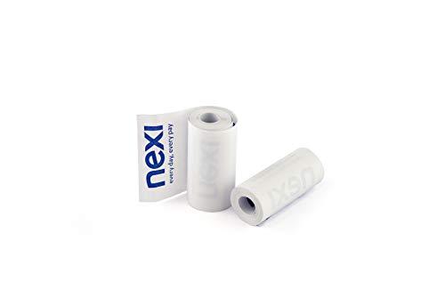 Nexi, 50 Rotoli di Carta Termica per Pos, Box di Rotolini Carta per Scontrini, 57mm x 8mt, Carta Termica 55gr,...