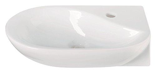 'aquaSu® Handwaschbecken droPino, 50 cm, Weiß, Waschtisch, Gäste-WC