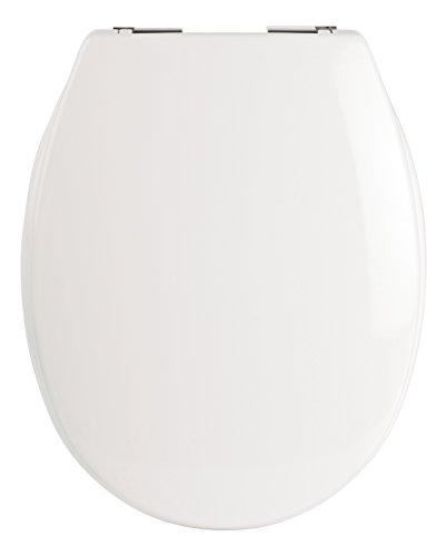 SITZPLATZ® WC-Sitz mit Absenkautomatik, Caorle in Weiß, antibakterieller Duroplast Toilettensitz, Metallscharniere, WC-Deckel, Standard O Form universal, 40386 3