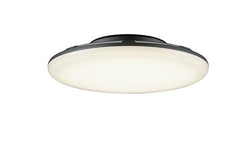 Trio Leuchten LED-Aussen-Deckenleuchte Bering Aluminiumguss, anthrazit, Acryl weiß 620261842