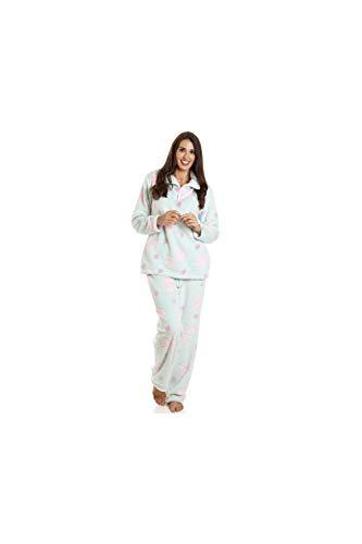 Camille Mujeres Supersoft Corazón &Arco Pijama En Relieve Conjunto 38/40