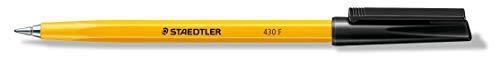 Staedtler–Stick 430–Kugelschreiber feine Spitze schwarz/gelb