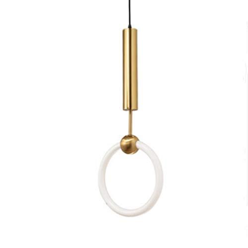 YEXINTMF Kronleuchter Chinesisches Restaurant Studie Glas Kreative Retro Kunst Schmiedeeisen Minimalistische Dekoration Kronleuchter (Color : Warm Light, Size : 300 Rings in Diameter)