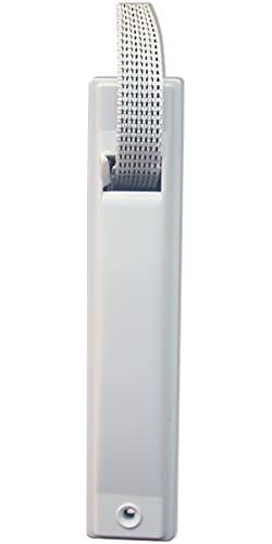 Schellenberg 50144 Rodillo de entrada MINI para cintas de persiana de 16 mm de anchura, Distancia entre taladros: 15 cm, blanco