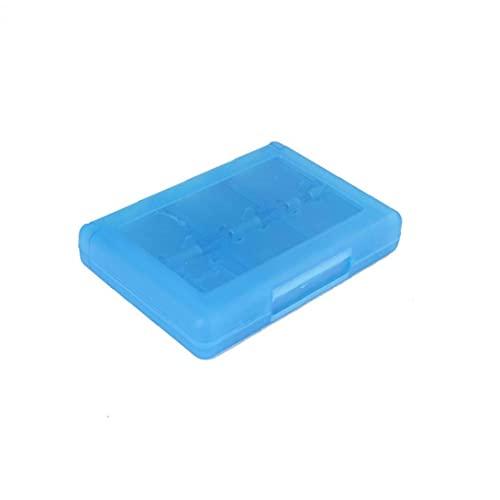Naisedier 28 en 1 Juego Tarjeta Caja Cuadro Titular Cartucho para Nintendo 3DS Juegos Vedio (Azul)