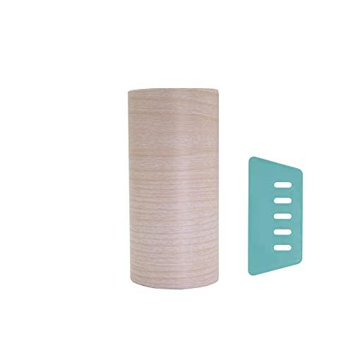 木目調 マスキングテープ 幅広 幅10cm×5m 木目調カッティングシート 壁紙 インテリア 壁紙用 シール ウッド パネリング はがせる リメイクシート アクセントクロス ウォールステッカー DIY 壁紙 シール 道具付き(アイボリー)