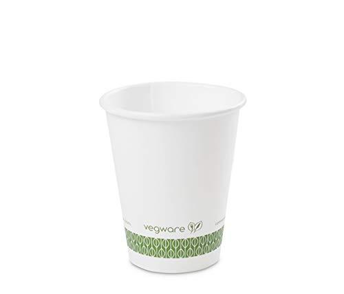 Vegware LV-8 Hot Cup, 8 oz, wit (1000 stuks)