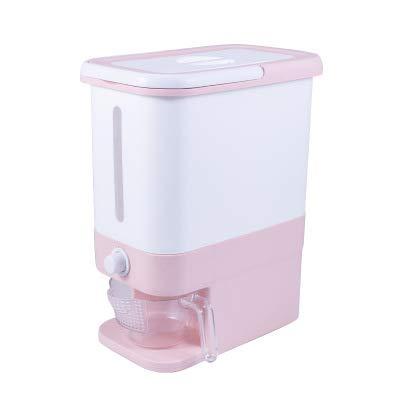 WAQIA Rice Bucket Rice Storage Box Large Sealed Grain Container Grain Storage pink