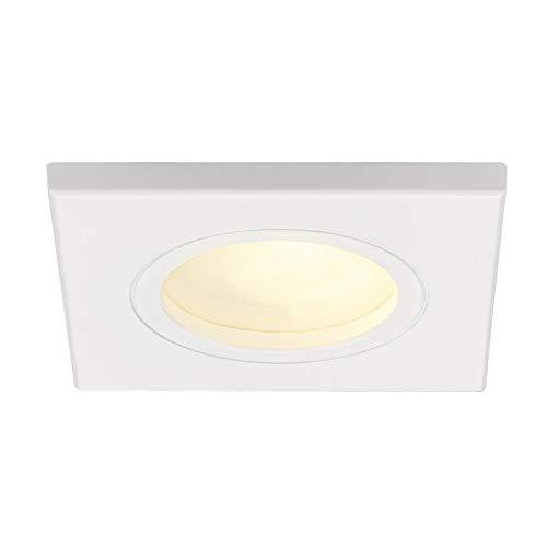 SLV 111141 dolix GU10 Spot encastré carré, angulaire, blanc, max. 35 W, aluminium, chrome,