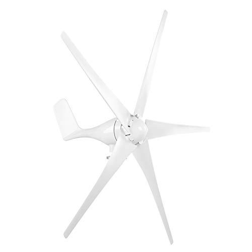Kit turbine eoliche professionali, generatore eolico a 5 pale 800W, mulino a vento a bassa velocità del vento da 2,0 m/s con controller per la ricarica domestica della barca fai-da-te(24V-bianca)