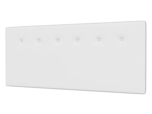 LA WEB DEL COLCHON - Cabecero tapizado Marco para Cama de 80 (90 x 70 cms) Blanco | Cabezal Cama | Cama Matrimonio | Cama Juvenil |