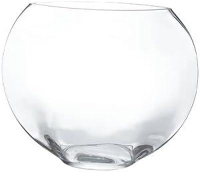 Oval Vase, Moon Shape Glass Vase. H-13