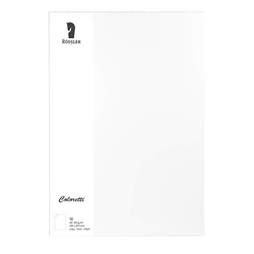 Rössler 220726509 Coloretti Briefpapier, 165g/m², DIN A4, 10 Blatt, weiß