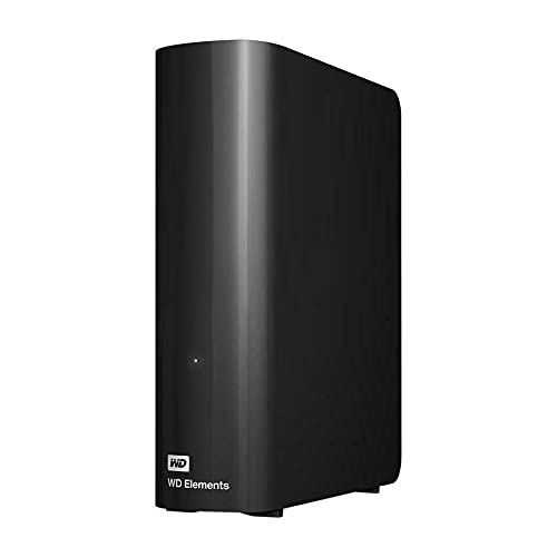 """Western Digital - WD Elements 14TB Desktop USB 3.0 External Hard Drive - 3.5"""" HDD Compatible with PC, Mac, PS4 & Xbox, Crypto Chia Mining - WDBWLG0140HBK-NESN - BROAGE HDMI Cable"""