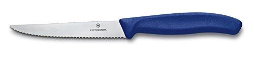 Victorinox 6.7232 - Cuchillo chuletero swissclassic Hoja Ondulada Mango Azul 11 cm (h.nr.)