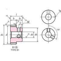 協育歯車工業(株) 歯研平歯車 SG50S120B-0810 SG50S120B-810-1