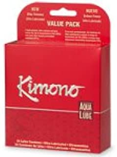 Kimono Latex Condoms, Ultra Lubricated, 24-Count Boxes (Pack of 2)