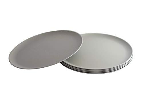 Natura Green- Bamboo Plates- Set of 6- 10 inches (Gray)