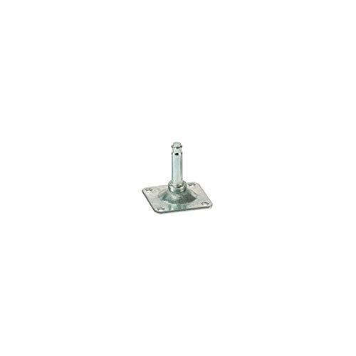Platine - Type : Platine 42 x 42 mm - Décor : Zingué - Pour roulette de diamètre : 37 mm - ASA
