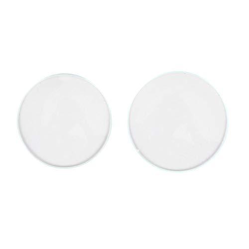Ladieshow - Pieza de repuesto de cristal para reloj de doble cúpula de cristal cóncavo (30 + 32)